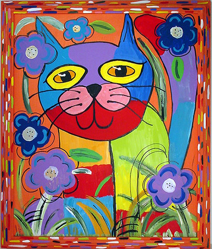 "Click here to go to larger image of ""Colorful Calico Cat"""