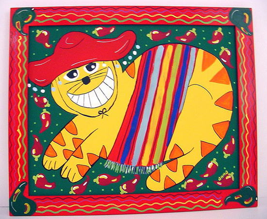 """Mexican Cat"" by Anna"
