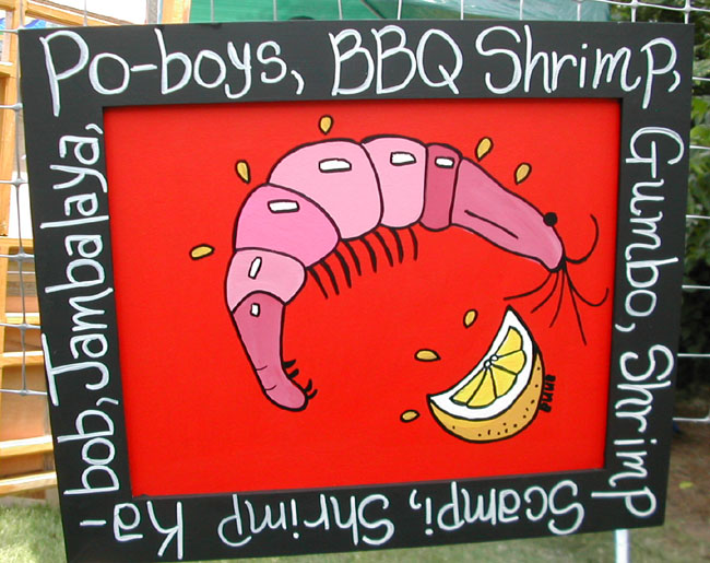 "Click here to go to larger image of ""Shrimp Po-boy"""